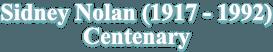 Nolan Centenary