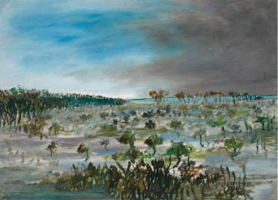 "Sidney Nolan, ""Swamp"", Oct 1947"